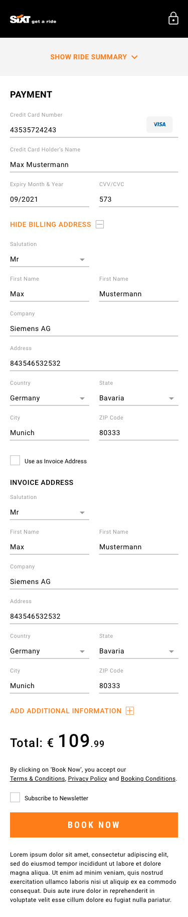 38 Invoice Address.Mobile 2.Logged Out