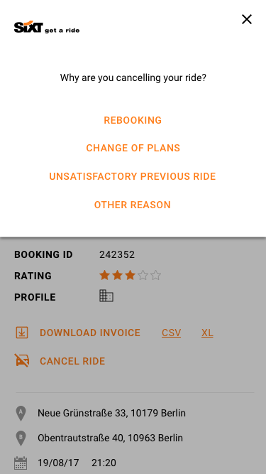Cancellation Mobile 3