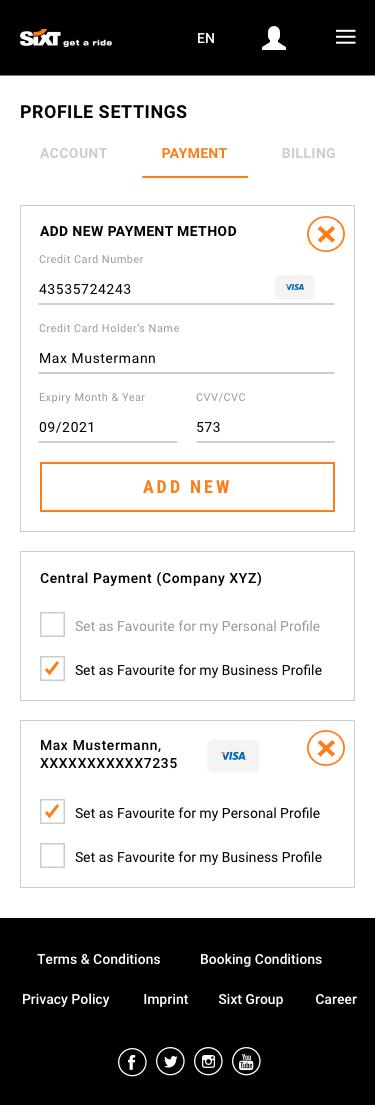 Profile Settings Mobile 4