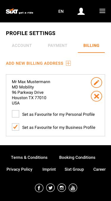 Profile Settings Mobile 5